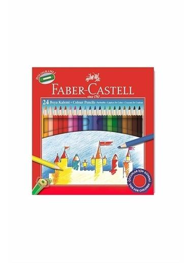 Faber Castell  Tam Boy Boya Kalemi 24 Renk Karton Kutu 116324 Renkli